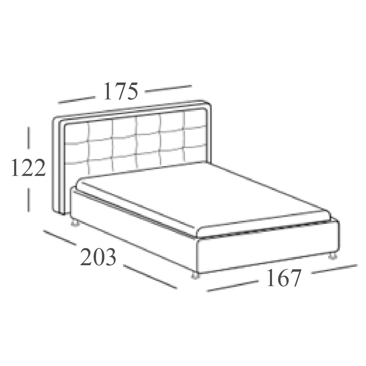 02 ciclamino letto imbottito aabed - Misure cuscino letto ...