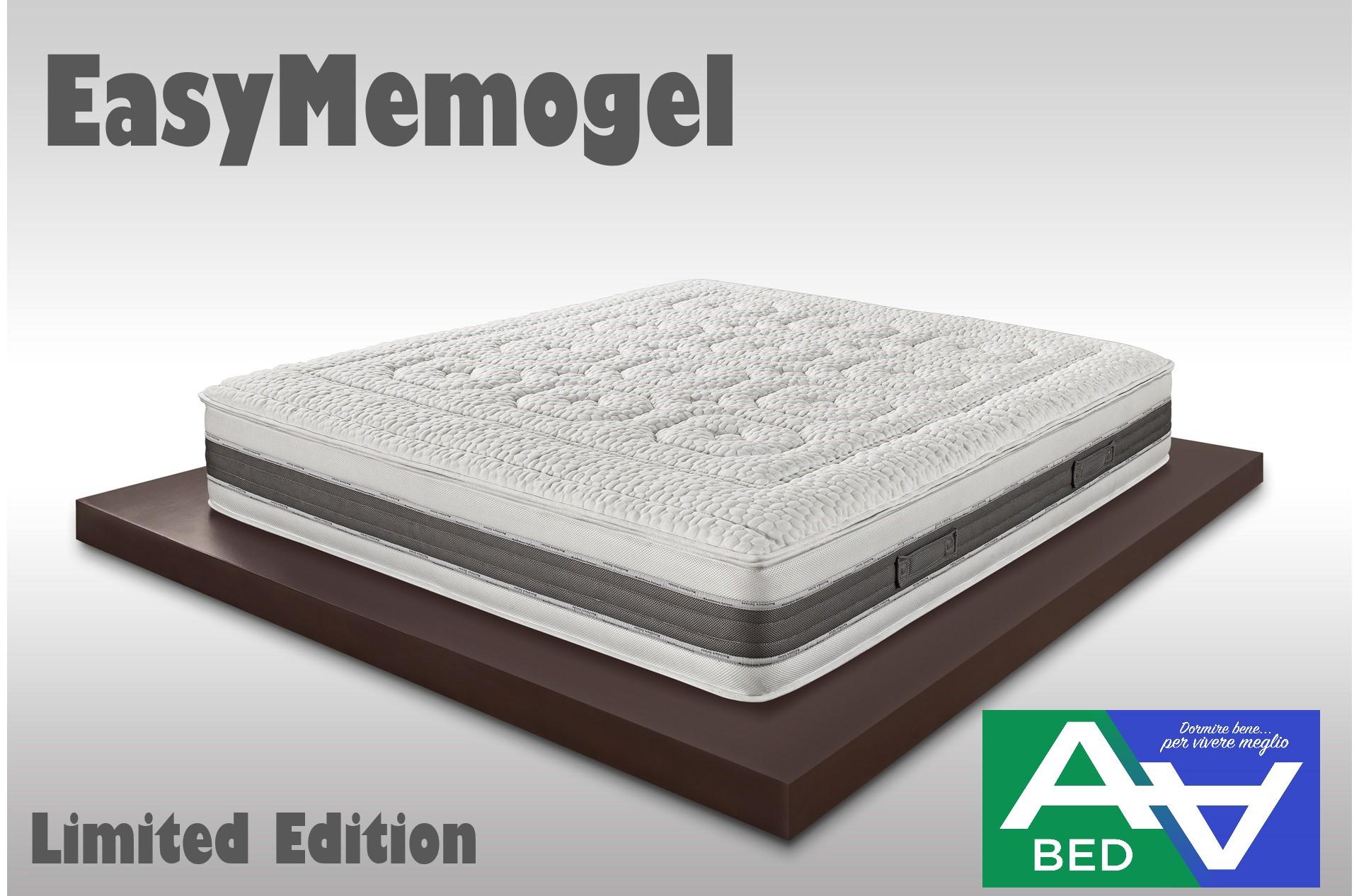 2.EASY MEMOGEL - Materasso a molle indipendenti, viscopur aloe e memory air  sense|